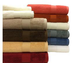 Soft and Durable Fluffy 100% Plush Cotton Pile 6 Piece Towel