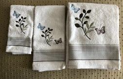 Saturday Knight Fluttering Bath, Hand, Fingertip Towels, Nat