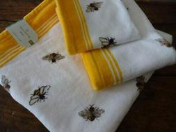 ARTISAN De LUXE Garden BEE YELLOW White LUXURY BATH Hand Was