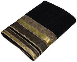 Avanti Linens Geneva Hand Towel, Black