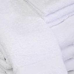 GHP Pack of 12 White Hotel 16x27 Poly Cotton Blend Ringspun