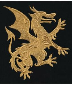 GILDED DRAGON 🐉 SET 2 HAND TOWELS EMBROIDERED NEW By Laur