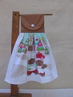 Gingerbread Cookies Christmas Towel, Hanging Kitchen Towel