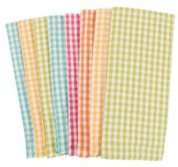 KAF Home Gingham Check Kitchen Towels | Set of 8, 100% Pure