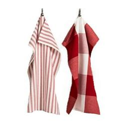Gingham Kitchen Towel Set of 2 - Red/White - Hearth And Hand