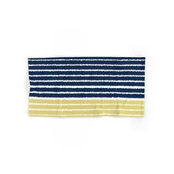 "Society6 Gold And Navy Blue Brush Strokes Hand Towel 30""x15"""