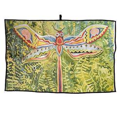 ZMLSJY Golf Towel Colorful Dragonfly Microfiber Golf Wet Dry
