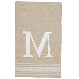 Mud Pie 4405177M Grainsack Chambray Initial Towel Amazon