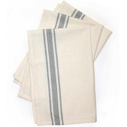 "Aunt Martha's 18""x28"" Gray Striped Dish Towels Pkg of 3"