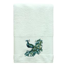 PH 1 Piece Green Blue Yellow Peacock 27 X 50 Inch Bath Towel