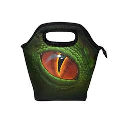 Naanle Green Dragon's Eye Insulated Zipper Lunch Bag Cooler