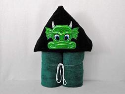 Green Dragon Hooded Bath Towel - Baby, Child, Tween