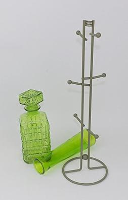 Green Necklace Holder Towel Rack Jewelry Ring Tree
