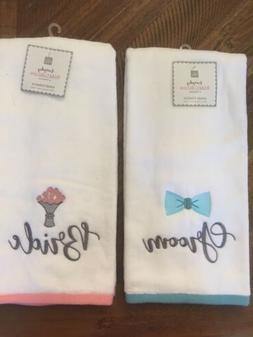 Groom And Bride Hand Towels By Home Wear Everyday Bridal Col