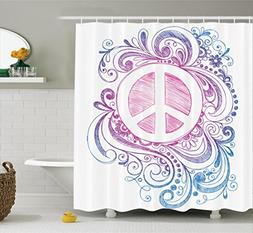 Ambesonne Groovy Decorations Shower Curtain Set, Classic Han