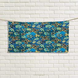 Chaneyhouse Grunge,Hand Towel,Cool Retro Symbols Pattern Sku