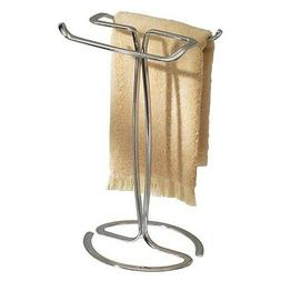 Guest Hand Towel Holder Bathroom Chrome Stand Free Standing