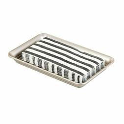 mDesign Guest Hand Towel Tray, Vanity Storage Organizer Hold