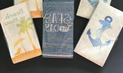 Guest Hand Towels Napkins Paper Beach House 20 pk Anchor Wha