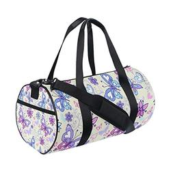 Gym Duffel Bag Beautiful Butterfly Women Men Small Waterproo