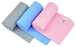 HOPESHINE Premium Gym Towels for Women & Men Microfiber Spor