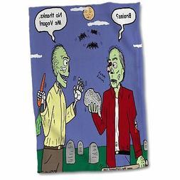 3dRose Halloween - Zombie Vegans Hand Towel