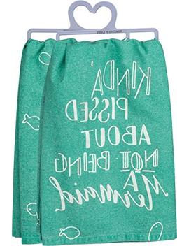 Primitives by Kathy Hand Lettered Dish Towel, 28-Inch Square