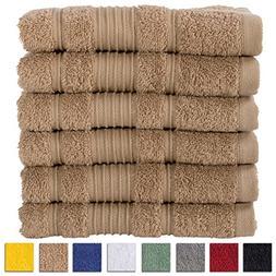 All Design Towels 6 Pack Hand Towels Set Premium Quality | T