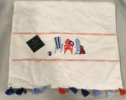 """Avanti Linens - Hand Towel - Beach Mode - White - 15"""" x 28"""""""