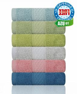 Cleanbear Hand Towel Face Set,100% Cotton, High Absorbent To