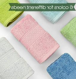 """Cleanbear Hand Towel Face Set,100% Cotton,Size 29""""x13"""", 6-Pa"""