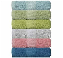 Hand Towel Face Set,100% Cotton, Assorted Colors Towels, Siz