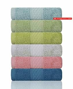 Cleanbear Hand Towel Face Towel Set,100% Cotton, High Absorb