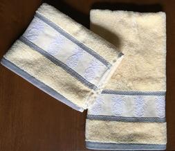 Tommy Bahama Hand Towel Set of 2 Towels Pineapple Tropics Ye