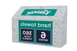 Kleenex Hand Towels, 60 Disposable Towels per Box, 6 Packs..