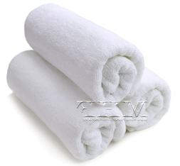 Hand Towels-MHF Brand-16x27 inches-White- 3.0 Lbs -100% Cott
