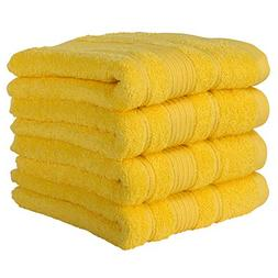 Qute Home Towels 100% Turkish Cotton Yellow Hand Towels Set