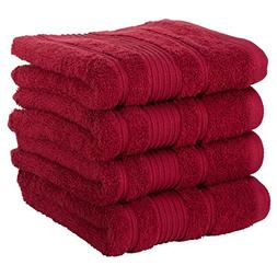 Qute Home Towels 100% Turkish Cotton Burgundy - Red Hand Tow