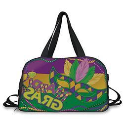 iPrint Travel handbag,Mardi Gras,Colorful Bands with Vivid B