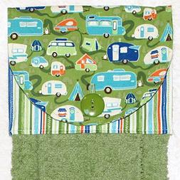 Hanging Hand Towel - Kitchen or Bath - Retro Camping Trailer