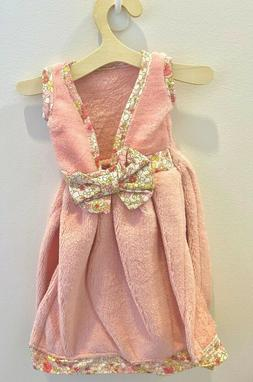 Hanging Hand Towel Dress with hanger in Pink - Soft Micro-Fi
