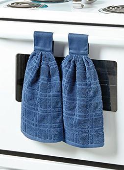 Carol Wright Gifts Hanging Kitchen Towels, Color Indigo, Ind
