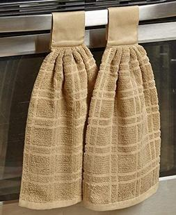 The Lakeside Collection Set of 2 Hanging Kitchen Towels- San