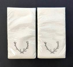 Hearth & Hand Magnolia 2 Holiday Antlers Guest Towels Napkin
