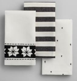 Hearth and Hand Magnolia Cotton Tip Towels Star Black Gold W