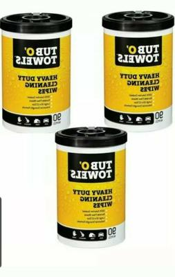 """Tub O Towels HeavyDuty 7"""" x 8"""" Size MultiSurface Cleaning Wi"""