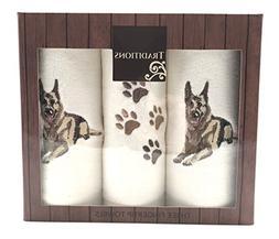 Pet Lovers Cotton Tip Towels: Decorative Embroidered Dog Des