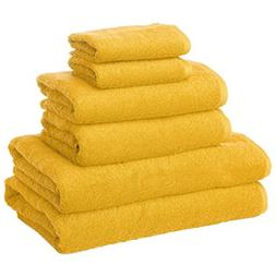 6 Piece Honey Solid Color New Generation Towel Set With 26 X