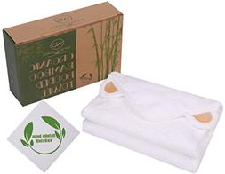 Hooded Bamboo Baby Towel With Hand Towel - 100% Organic Bath
