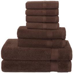 Premium Hotel Quality, 8 Piece Bathroom Towel Set; 2 Bath To